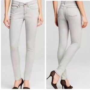 Eileen Fisher Gray Skinny Jeans Whitewashed 10